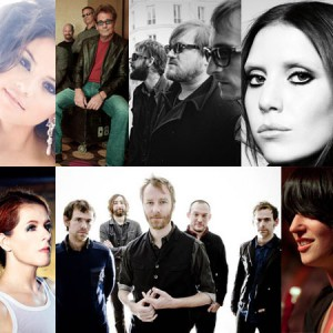 Selena Gomez, Huey Lewis & The News, Band of Horses, Lykke Li, Neko Case, The National, Sharon Van Etten