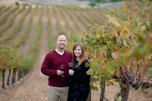 Mike and Erin at the Winery