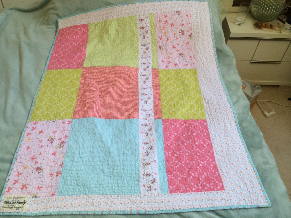 The back of the quilt.